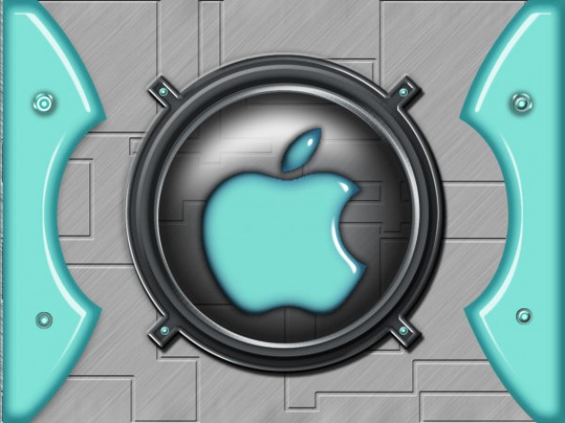 apple interface icons layered material in metallic