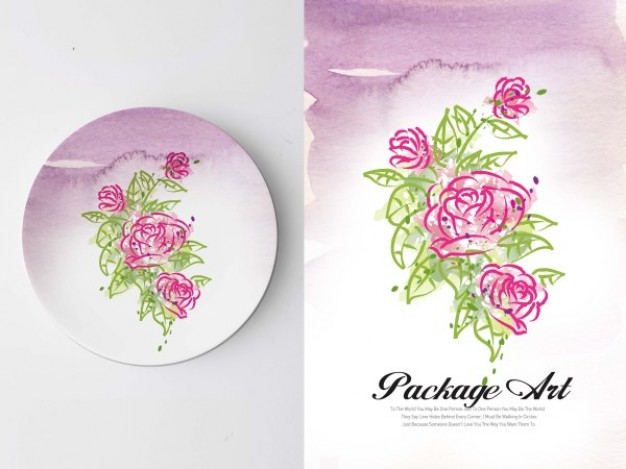 application of plate with art series graffiti printing in pink