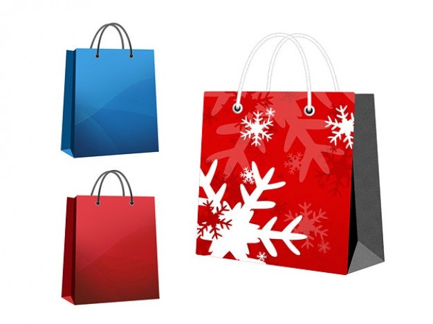 bag icon layered material with snowflake