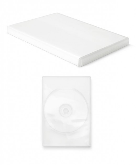 blank dvd packaging layered material in white style