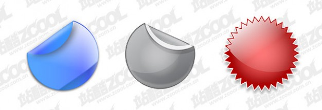 cool icon layered material with round decorative shapes