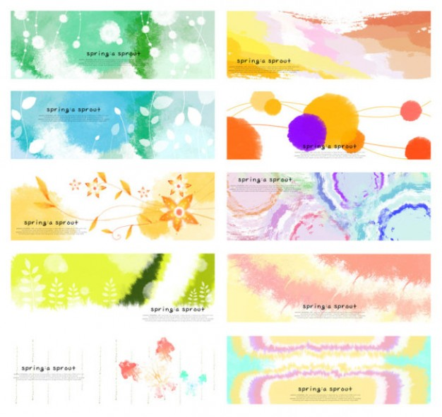 dream spring background material in different color style