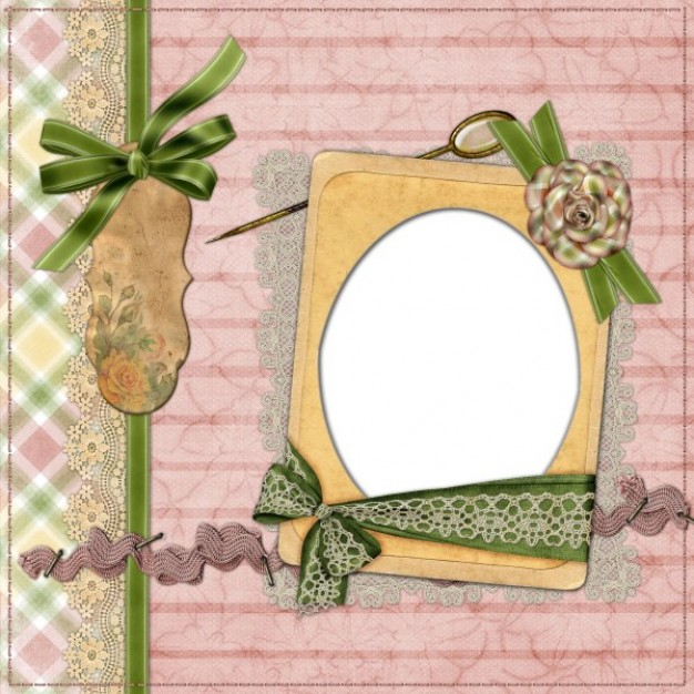 europe and the united states collage style frame with green ribbons