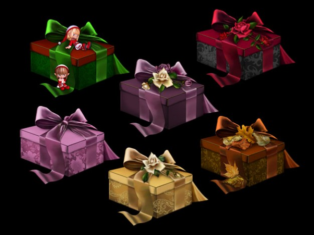 european classic gift box material over dark background