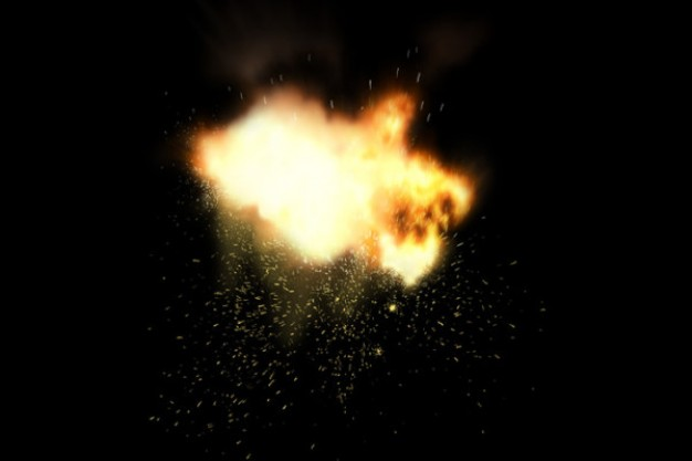 explosion fireball series material over dark background