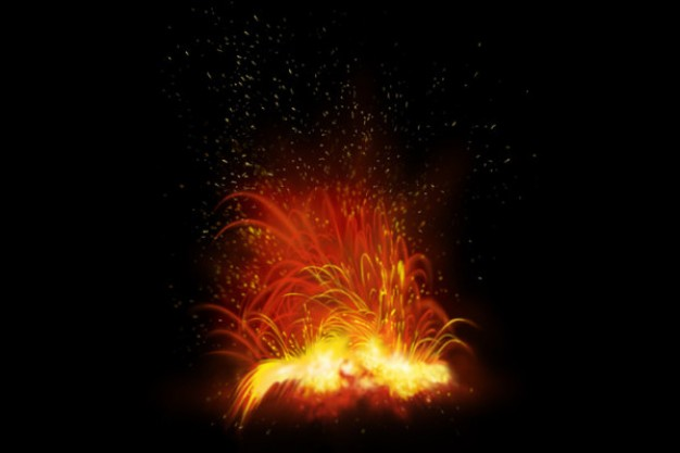 explosion fireball series material with dark background