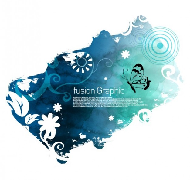 fusion graphic series fashion pattern with flower leaf circle