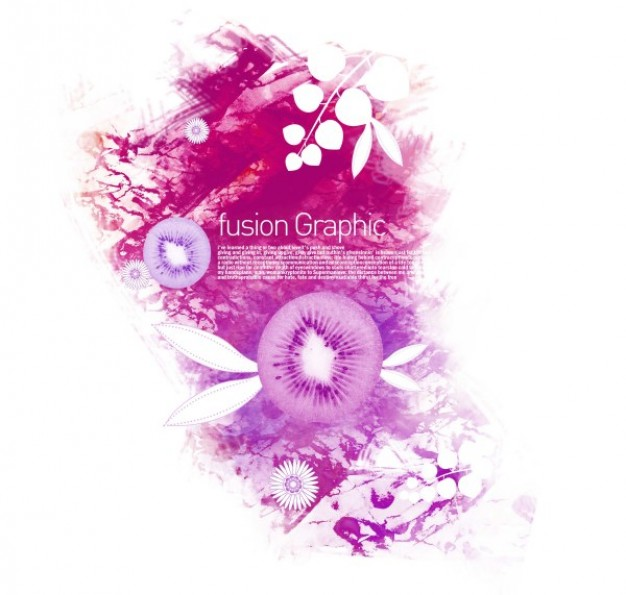 fusion graphic series fashion pattern with kiwi in pink style