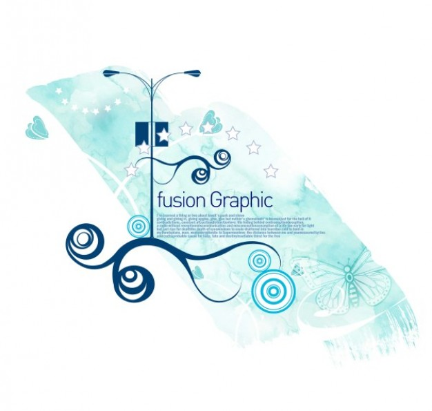 fusion graphic series fashion pattern with swirl and street lamp