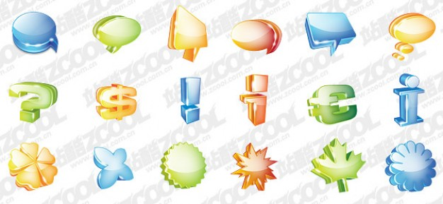 graphical symbols theme cool icon material like shell money flower bubble leaf