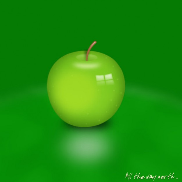 green apple layered source files with green background