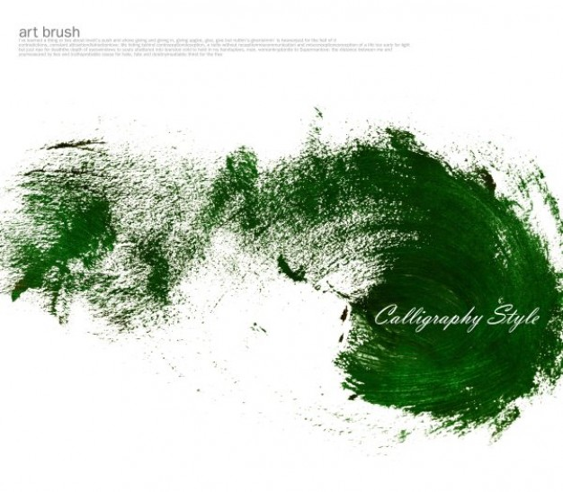 green brush cloud in ink