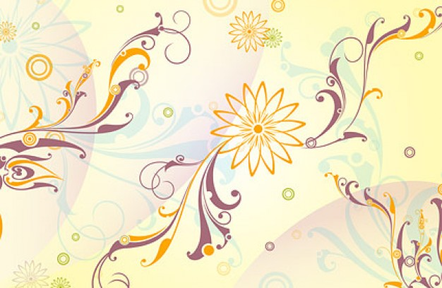 high precision fashion pattern with swirl leaves and flowers