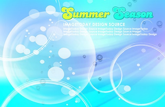 korean style summer background layered material including bubble