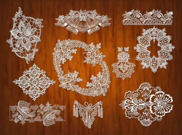 lace pattern material with crystal