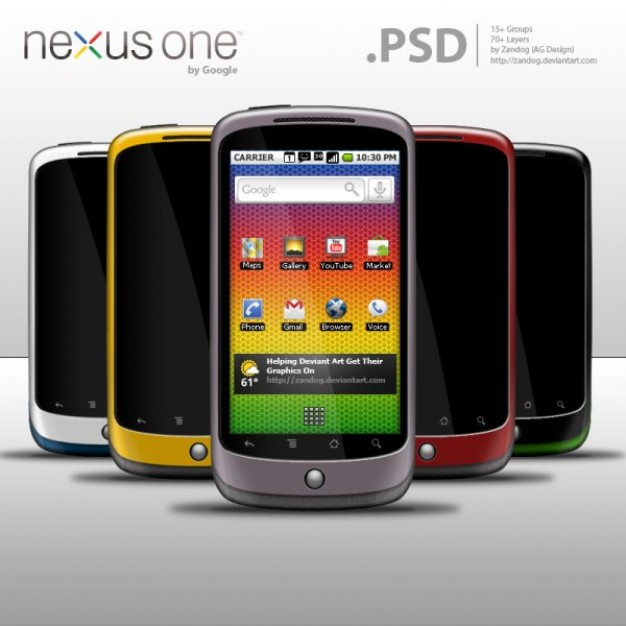 nexus one guipsd ads cover with mobile in different color