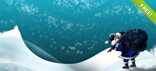 santa winter wallpapers setwith snow snowflake and blue sky