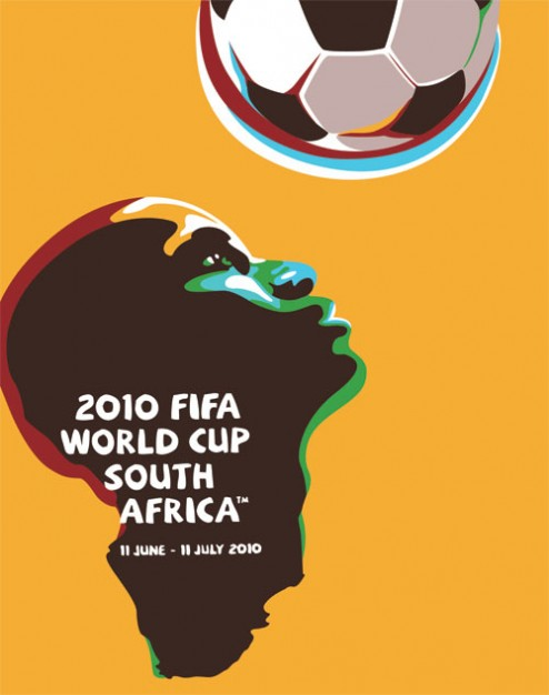 the world cup in south africa for cover poster design
