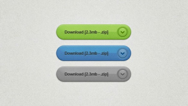 finely textured bevelled download buttons set