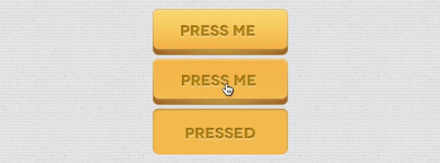 3d button with press me sign