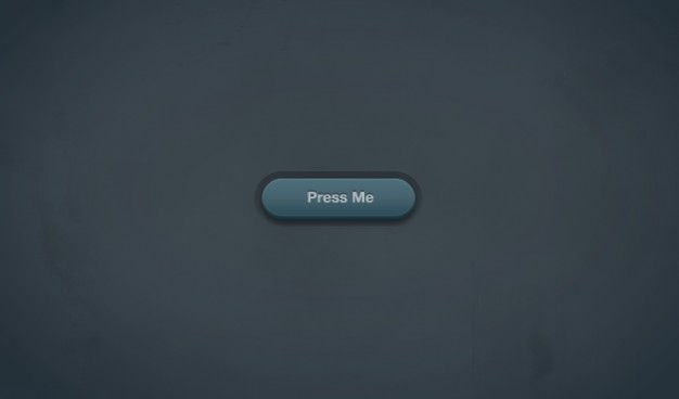 3d green button with dark blue background