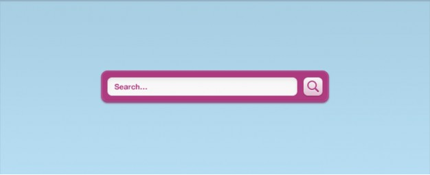 a pink vibrant search field interface with light blue page background
