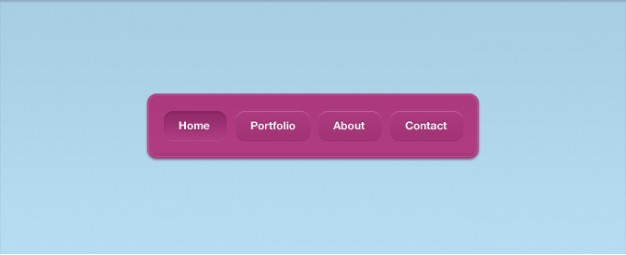 a vibrant navigation interface with pink background