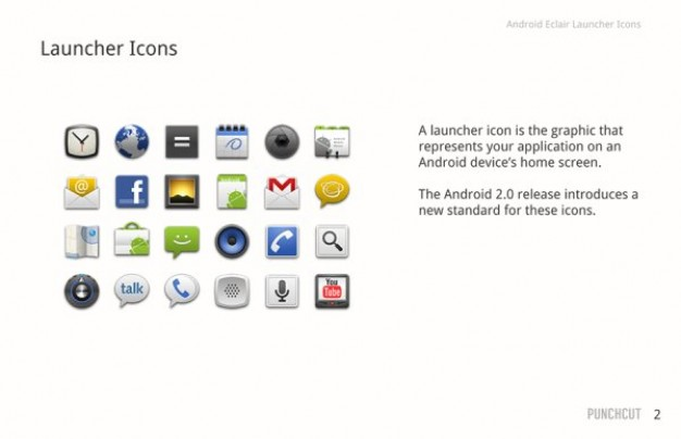 android icon design layered file like Facebook mail message