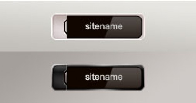 black button template material format for site button