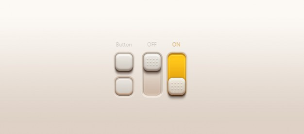buttons switches with earth yellow color