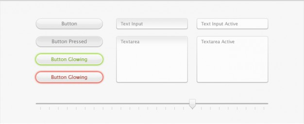 buttons text fields and slider for interface kit