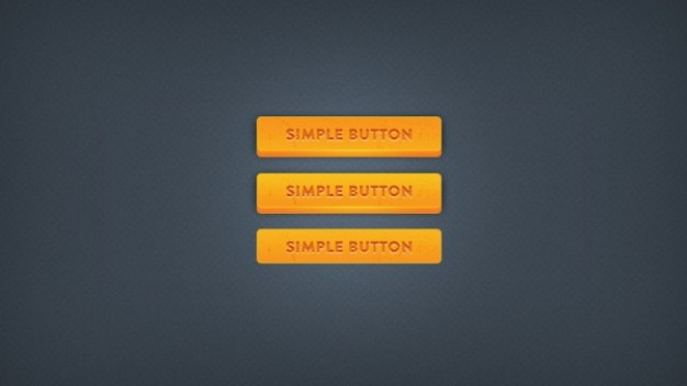 chunky simple button with yellow background