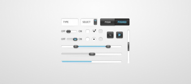 clean ui kit with slider toggle button over gray background