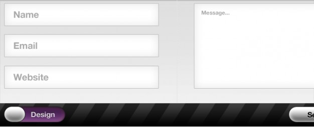 contact form interface in clear style