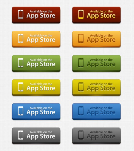 delicate button icons layered material for app store icon