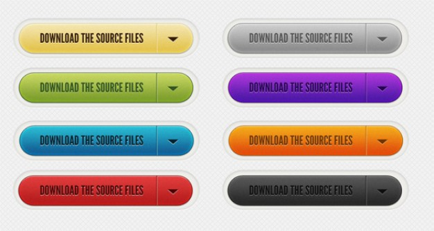download source files buttons with different color style
