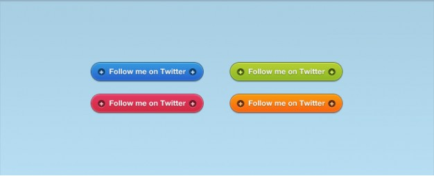 follow buttons for vibrant twitter with different color background