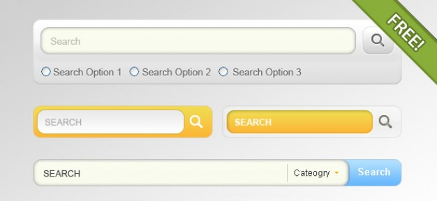 four designs for search input field pattern design