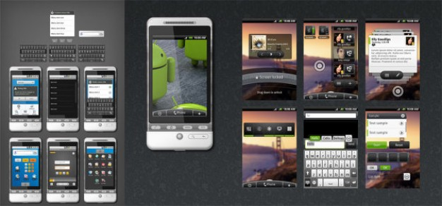 full source file of the wds the android gui with dark gray background