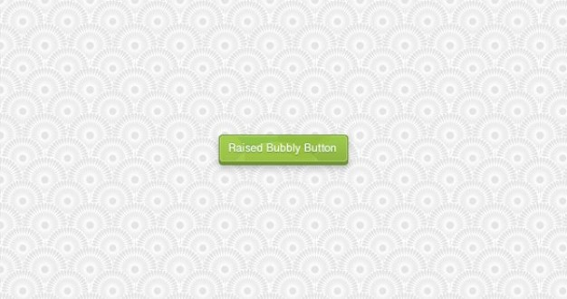green raised bubbly ui button with grey flowers background