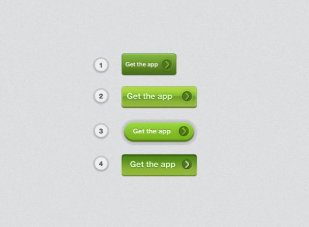 green texture button layered material for get the app