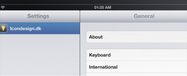 ipad application interface with grey and blue style