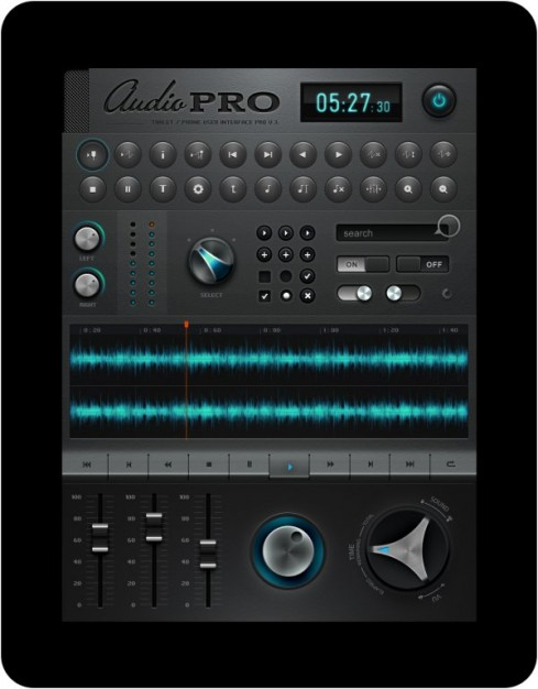 ipad music application software interface design material