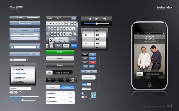 iphone gui fine layered material for app design