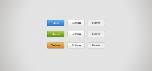 milky buttons with blue button hover sign