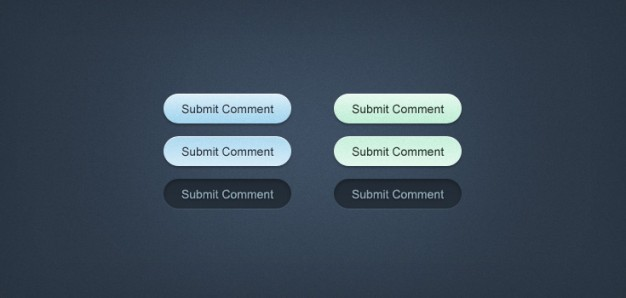 minty fresh web buttons with submit sign over blue background