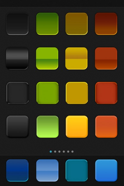mobile phone interface icon style with non texture original