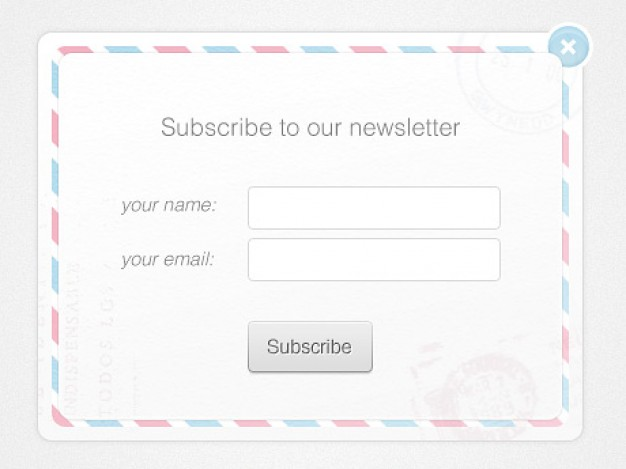 newsletter form template design with button input title