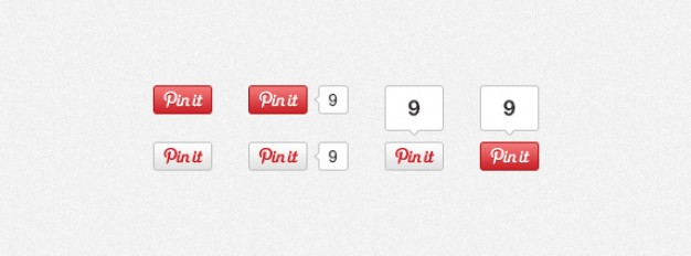 pinterest pin it buttons with two style by number position