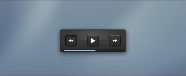 playback controls with dark blue background